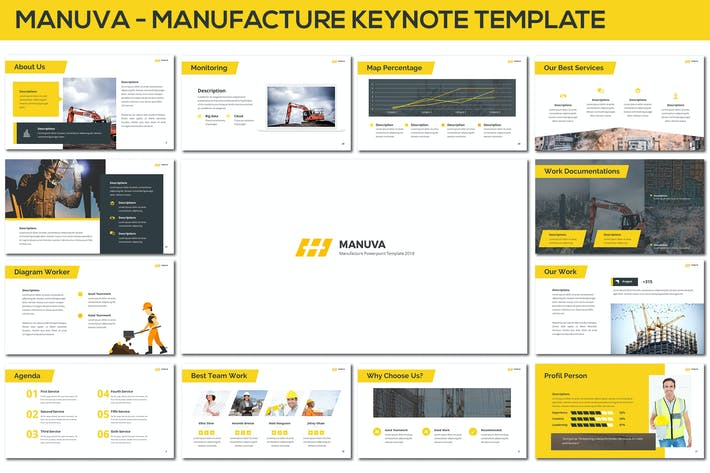 Thumbnail for Manuva - Manufacture Keynote Template