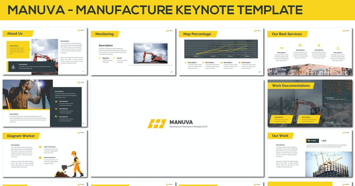 Download Manuva - Manufacture Keynote Template by SlideFactory