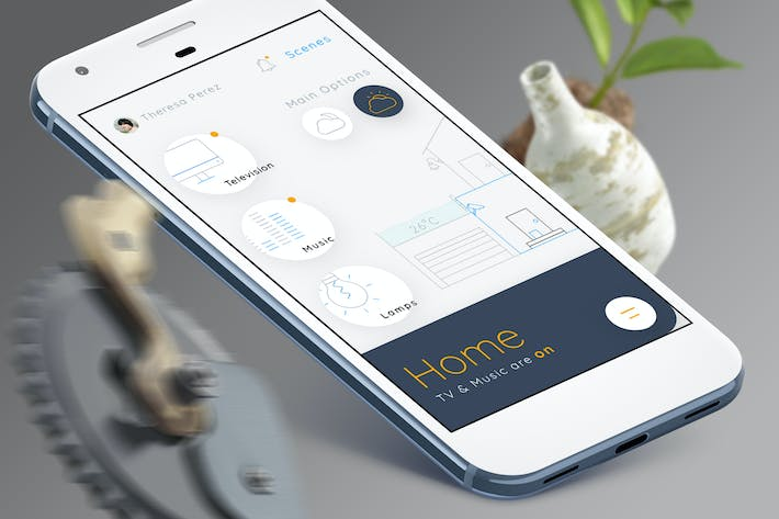Thumbnail for Smart Home Mobile Ui 4 - TH