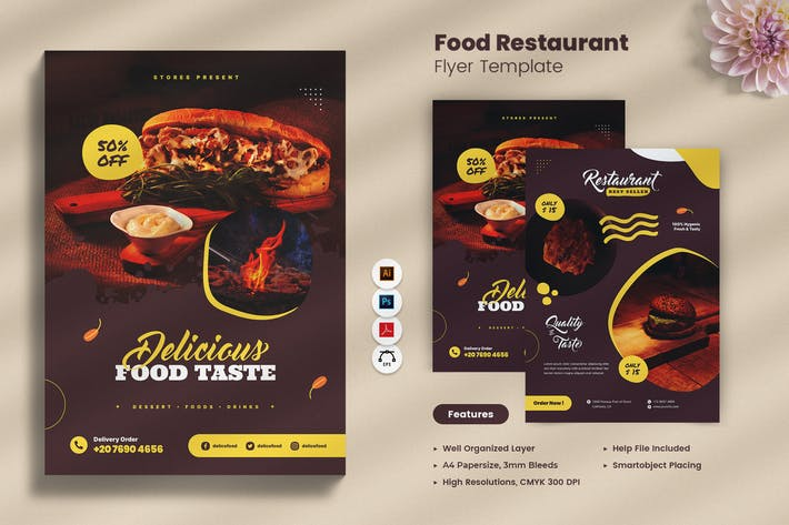 Food Restaurant Flyer