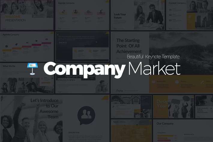 Thumbnail for Company Market Keynote Templates