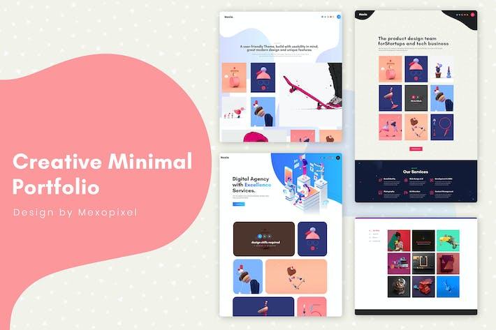 Thumbnail for Creative Agency Minimal Portfolio Website Template