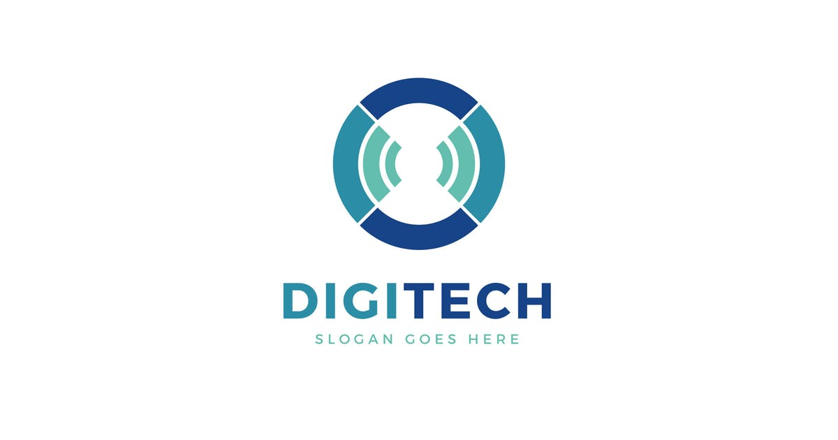 Digi Tech Logo Template by Pixasquare