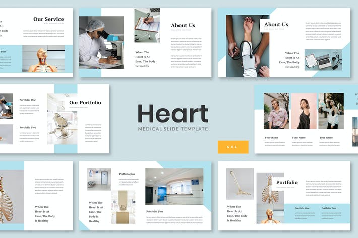 Thumbnail for Heart - Medical Google Slides Template