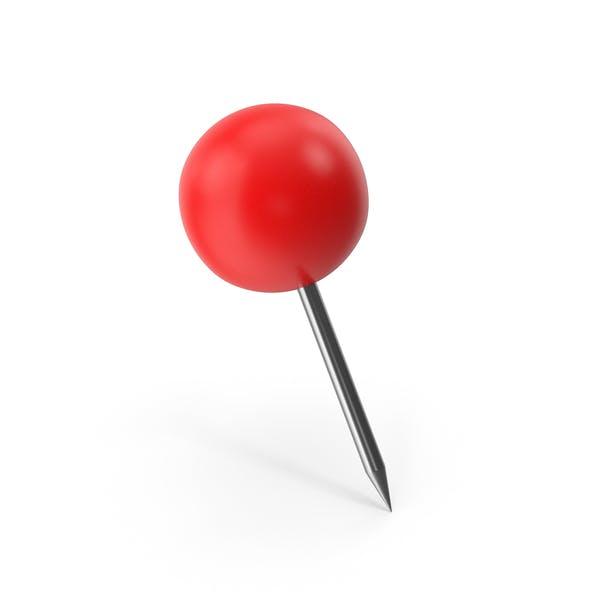 Красный Push Pin Сфера
