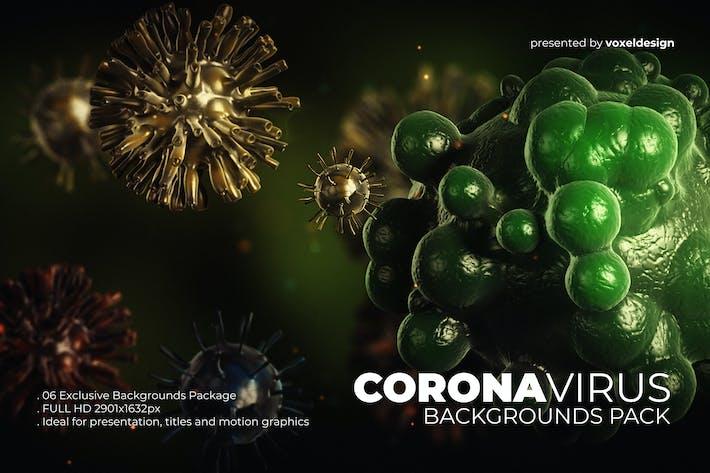 Thumbnail for Corona Virus Backgrounds Pack