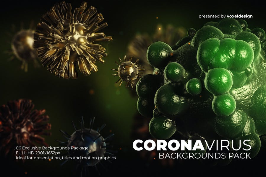 Corona Virus Backgrounds Pack