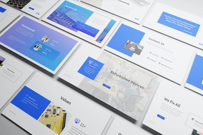 Thumbnail for Electronic Service Powerpoint Template
