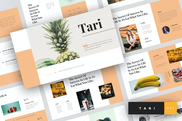 Thumbnail for Tari - Food Google Slides Template