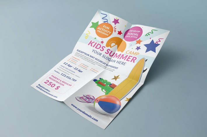 Thumbnail for Kids Summer Camp/ Flyer Template