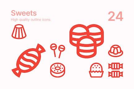 Süßigkeiten Icons