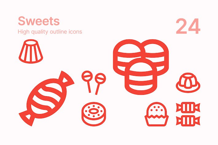 Thumbnail for Sweets Icons