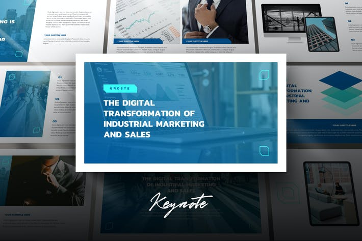Thumbnail for Groste - Company Profile Keynote Template