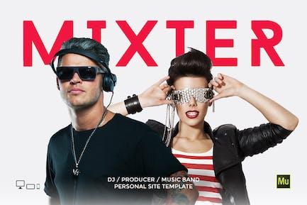 Mixter - DJ / Producer Personal site template