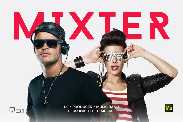 Thumbnail for Mixter - DJ / Producer Personal site template