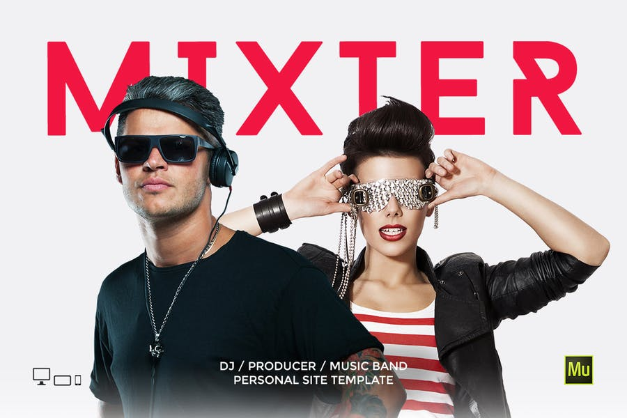 Mixter - DJ / Producer Personal site template