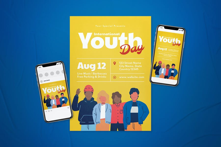 International Youth Day Flyer Set