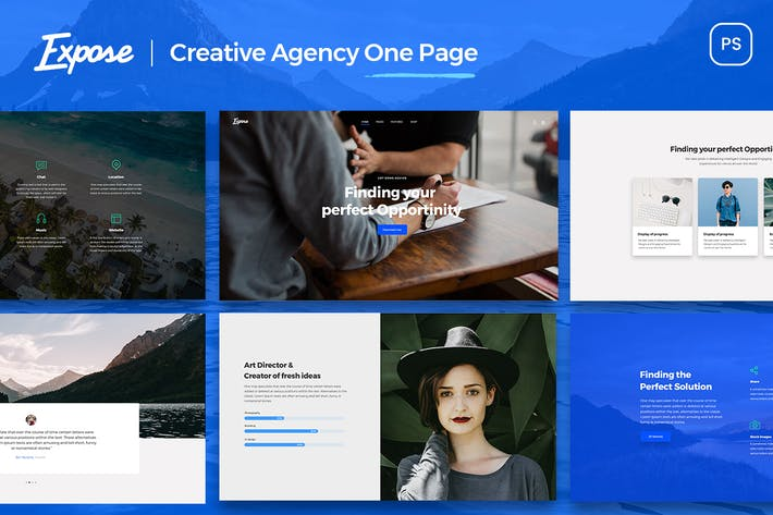 Thumbnail for creative agency _ one page