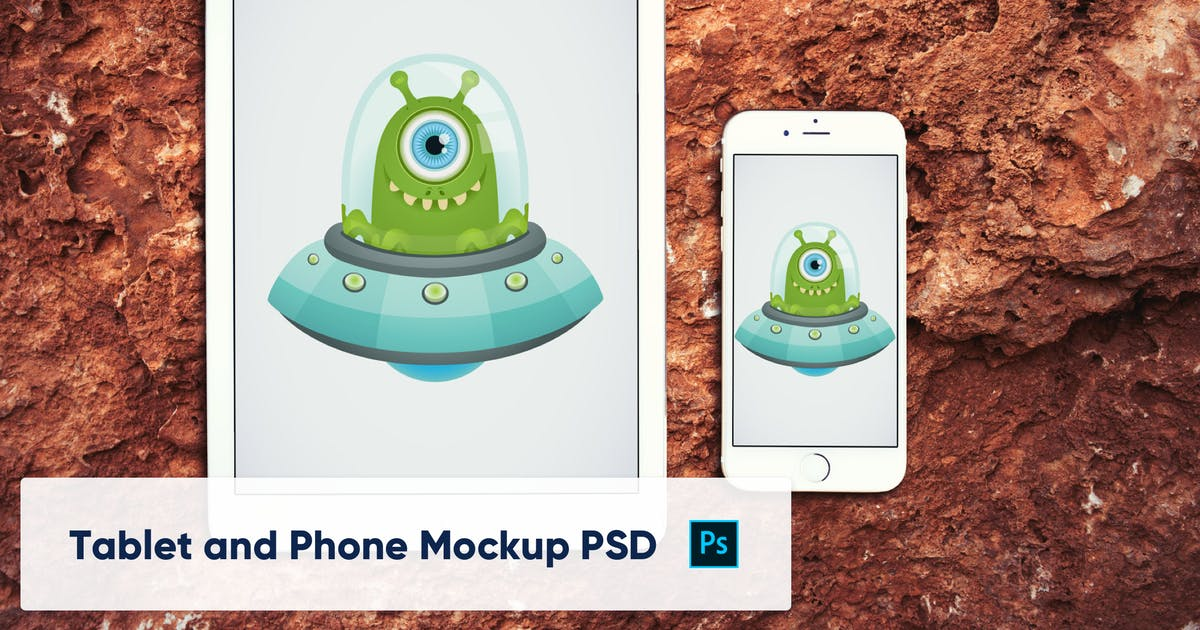 Download Phone and Tablet on Stone Background - Mockup PSD by maroskadlec