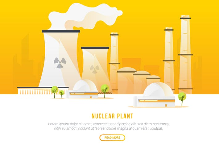 Thumbnail for Nuclear Plant - Vector Landscape & Building