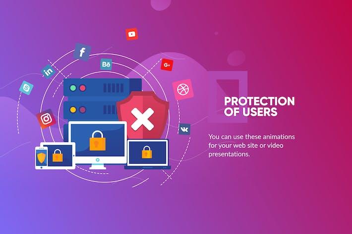 Schutz der Benutzer Banner & Landing Page
