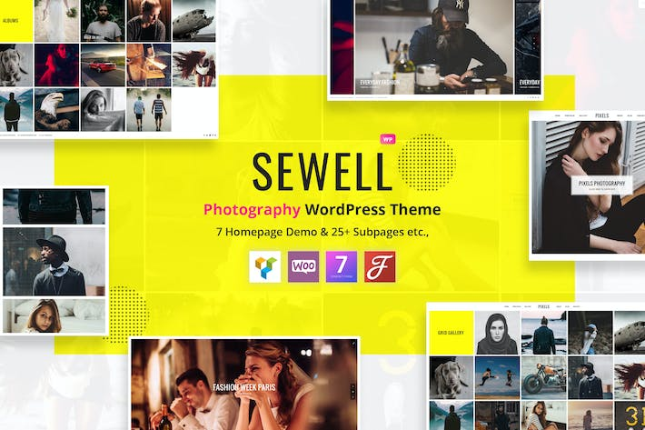 Thumbnail for Sewell - Fotografía WordPress Tema