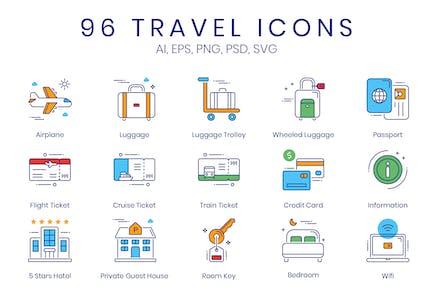 96 Travel & Tourism Icons