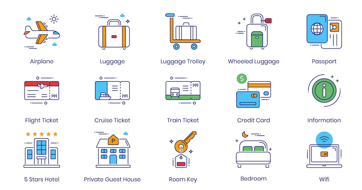 Download 96 Travel & Tourism Icons by Unknow