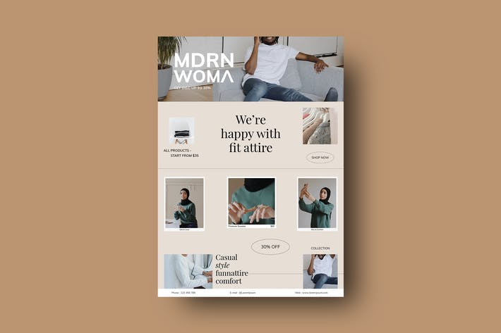Fit Attire - Flyer Template