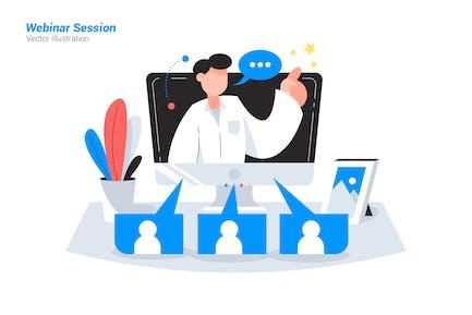 Webinar Session - Vector Illustration