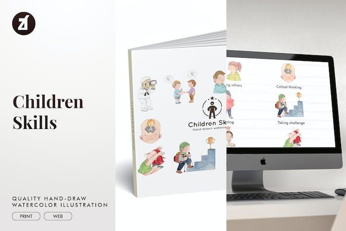 Thumbnail for 10 Children important skills illustration