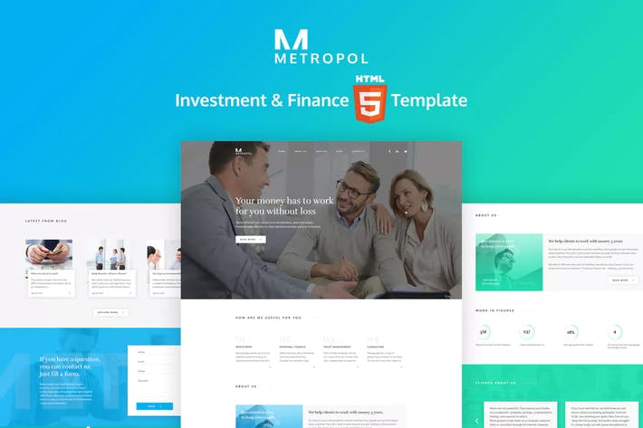 Thumbnail for Metropol - HTML Finance  & Investment Template