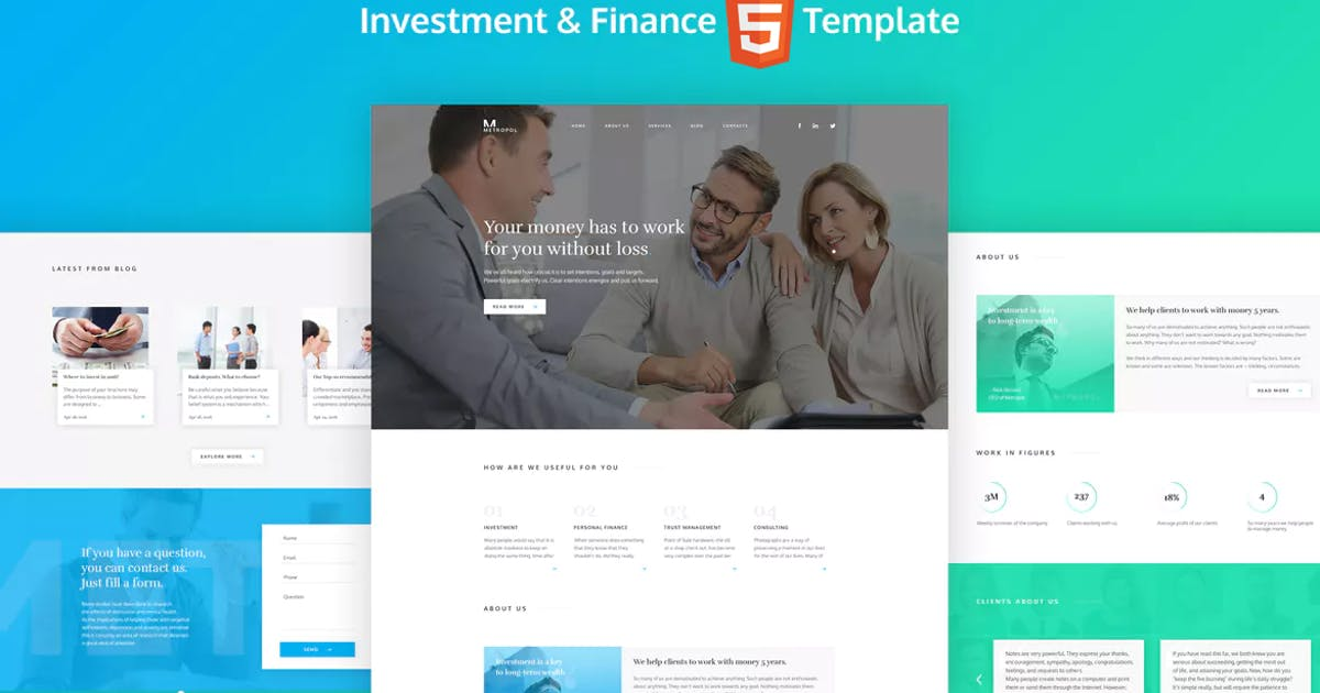 Download Metropol - HTML Finance  & Investment Template by murren20