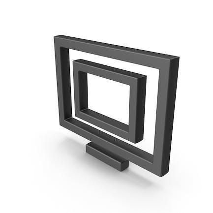 Symbol Monitor Black