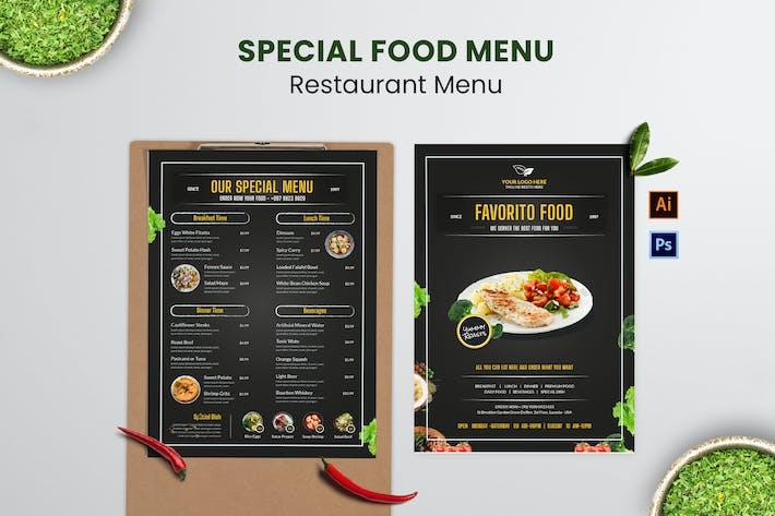 The Special Food Menu