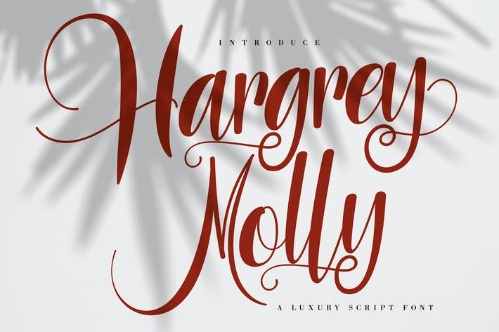Thumbnail for Hargery Molly | Luxury Script Font