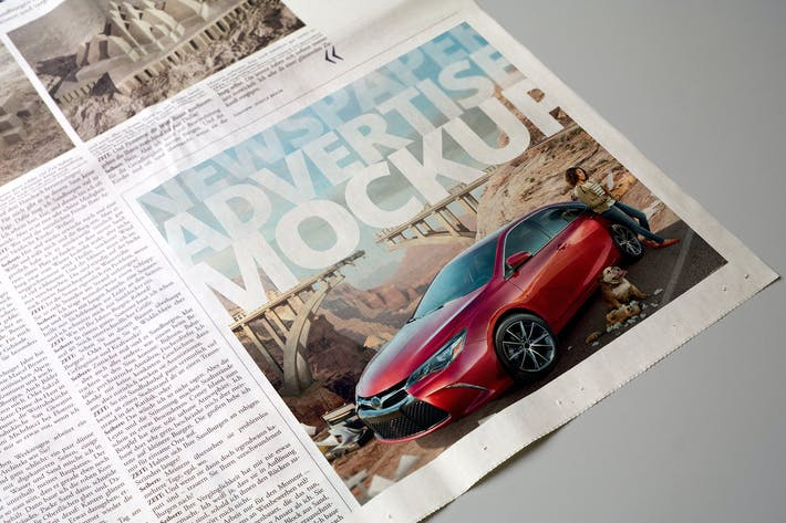 Cover Image For Newspaper Advertise Mockup v3