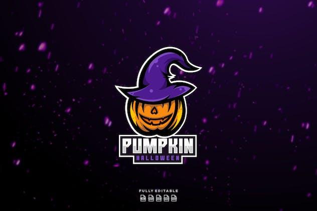 Pumpkin Halloween Esport Logo
