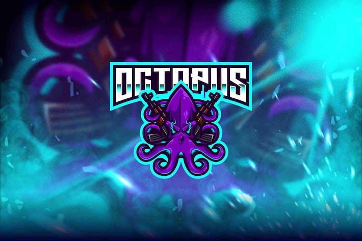 Thumbnail for Octopus Esport Logo Template