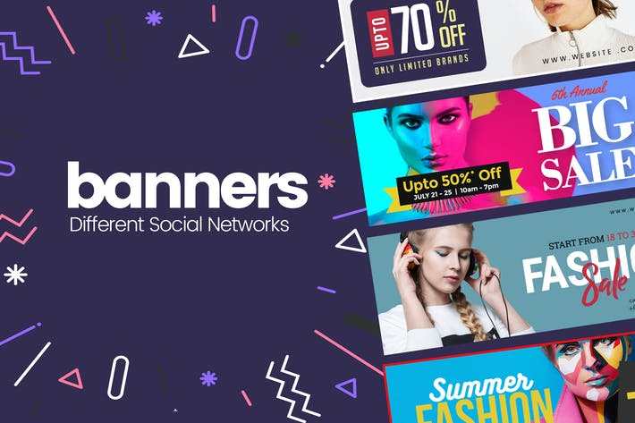 Thumbnail for Social Media Banner For Promotional PSD Templates