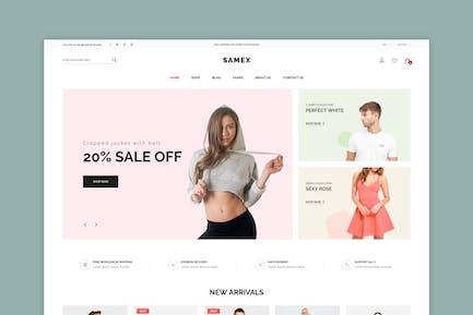 Samex - Clean, Minimal Shop WooCommerce WordPress