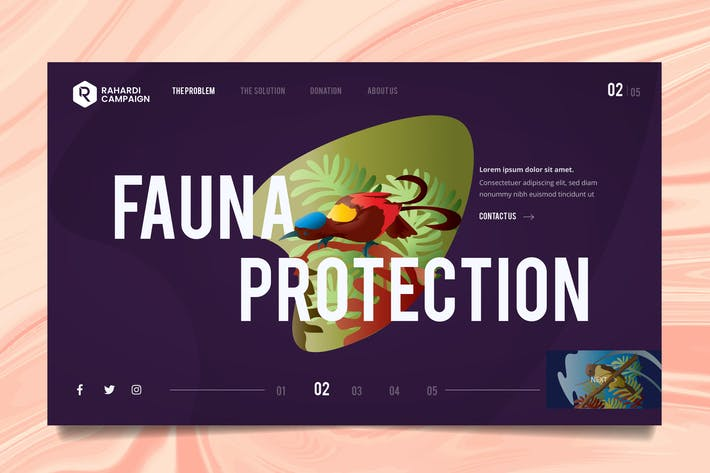 Thumbnail for Nature Wildlife Web Header PSD & Vector Template 3