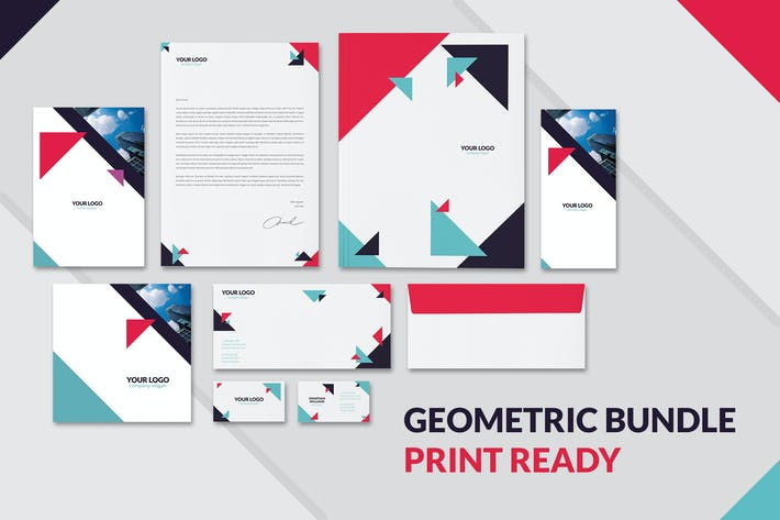 Thumbnail for Geometric Brochures and Stationery