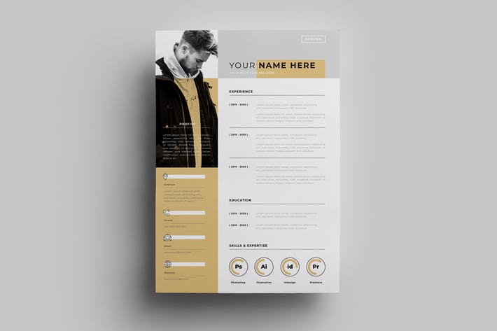 Thumbnail for Resume Design Templates.15