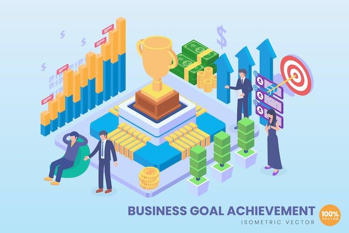 Thumbnail for Isometric Business Goal Achievement Concept