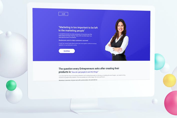 Thumbnail for Growth Course Landing Page PSD Template