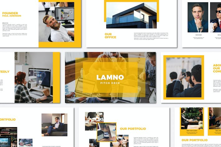 Thumbnail for Lamno Pitch Deck | Powerpoint Templates