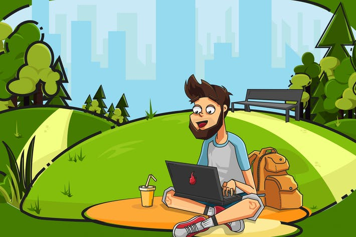 Thumbnail for Freelancer in City Park