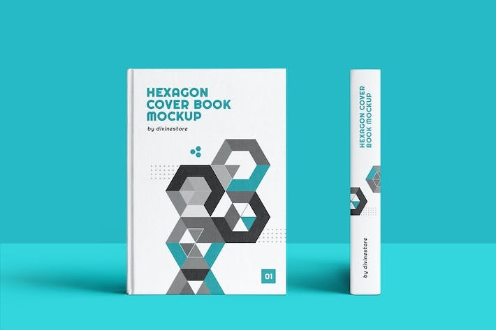 Thumbnail for Hexagon Cover Book Mockup