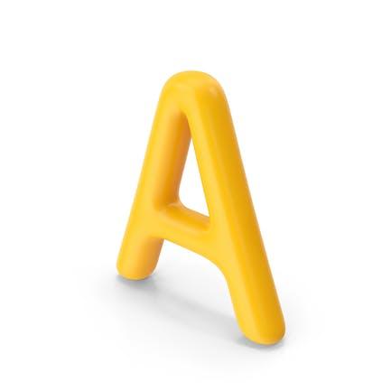 Letter A Orange